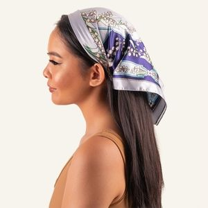 INH Hair Limited Edition Blue Bell 100% Silk Scarf